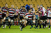 Simon Lemalu leads the forward pack upfield. Air New Zealand Cup rugby game between Counties Manukau Steelers & North Harbour, played at Mt Smart Stadium on August 10th, 2007. The game ended in a 13 all draw.