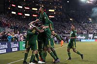 Portland, Oregon - Saturday, April 14, 2018: Portland Timbers vs Minnesota United FC in a match at Providence Park.