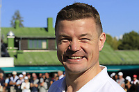 Rugby star Brian O'Driscoll (IRL) takes part in the Omega Celebrity Masters putting challenge on the 18th green at the end of Saturday's Round 3 of the 2018 Omega European Masters, held at the Golf Club Crans-Sur-Sierre, Crans Montana, Switzerland. 8th September 2018.<br /> Picture: Eoin Clarke | Golffile<br /> <br /> All photos usage must carry mandatory copyright credit (&copy; Golffile | Eoin Clarke)
