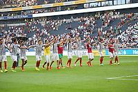 Siegesjubel Eintracht Frankfurt - 27.08.2016: Eintracht Frankfurt vs. FC Schalke 04, Commerzbank Arena
