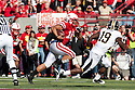 30 October 2010: Nebraska running back Roy Helu Jr. (10) runs it in for a touchdown on Nebraska's first offensive play against Missouri at Memorial Stadium in Lincoln, Nebraska. Nebraska defeated Missouri 31 to 17.