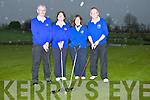 TEE OFF: CJohn Fitzgerald (president) Joan Finnegan (Lady president), cathy O'Connell(Lady Capt) and James Conway(Capt) teeing off ot the Ardfert Golf Club Capts Drive.