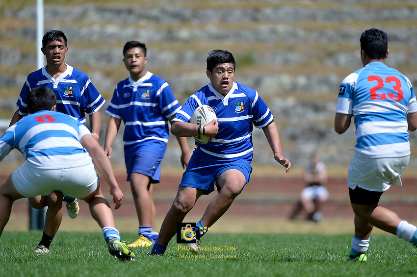 Action from the Junior and Senior Rugby League Finals at Rugby League Park, Wellington, New Zealand on Saturday 24 October 2015.<br /> Photo by Masanori Udagawa.<br /> www.photowellington.photoshelter.com.