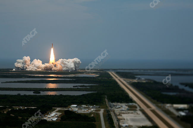 Launch of the Space Shuttle Atlantis on a repair mission of the Hubble Space Telescope. This was the final mission to the Hubble and one of the last missions of NASA's Space Shuttle program. Kennedy Space Center, Cape Canaveral, Florida, May 11, 2009