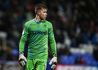 Leeds United's goalkeeper Bailey Peacock-Farrell<br /> <br /> Photographer Andrew Kearns/CameraSport<br /> <br /> The EFL Sky Bet Championship - Bolton Wanderers v Leeds United - Saturday 15th December 2018 - University of Bolton Stadium - Bolton<br /> <br /> World Copyright &copy; 2018 CameraSport. All rights reserved. 43 Linden Ave. Countesthorpe. Leicester. England. LE8 5PG - Tel: +44 (0) 116 277 4147 - admin@camerasport.com - www.camerasport.com