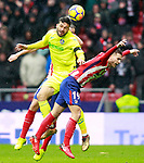 Atletico de Madrid's Lucas Hernandez (r) and Getafe CF's Jorge Molina during La Liga match. January 6,2018. (ALTERPHOTOS/Acero)