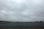 Establisment of the Class catamaran at the New York Yacht Club International C Class Catamaran Championships..Bad weather for the first day of racing...no race?