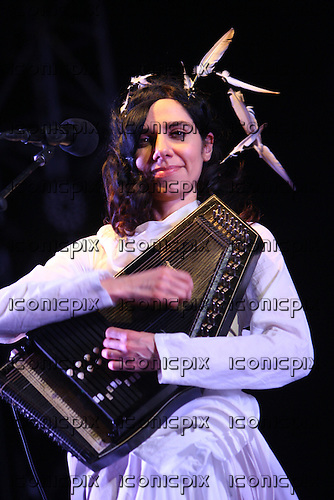 PJ Harvey performing live on Day Three of Coachella Valley Music and Arts Festival in Indio California USA - 17 APR 2011.  Photo credit: Zach Cordner/IconicPix