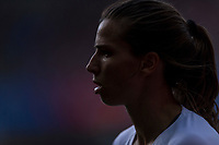 REIMS,  - JUNE 24: Tobin Heath #17 walks to the corner during a game between NT v Spain and  at Stade Auguste Delaune on June 24, 2019 in Reims, France.
