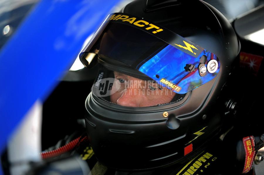 Aug. 7, 2009; Watkins Glen, NY, USA; NASCAR Sprint Cup Series driver Dave Blaney during qualifying for the Heluva Good at the Glen. Mandatory Credit: Mark J. Rebilas-