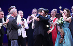 Richard Oberacker, Robert Taylor, Corey Cott, Laura Osnes during the Broadway Opening Night Curtain Call Bows of 'Bandstand' at the Bernard B. Jacobs Theatre on 4/26/2017 in New York City.