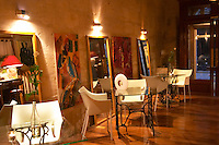 The gourmet Restaurant Le Jardin d'Ausone in the old town in Bordeaux: the bar