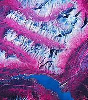 infrared aerial photo map of Cooper Landing, Alaska