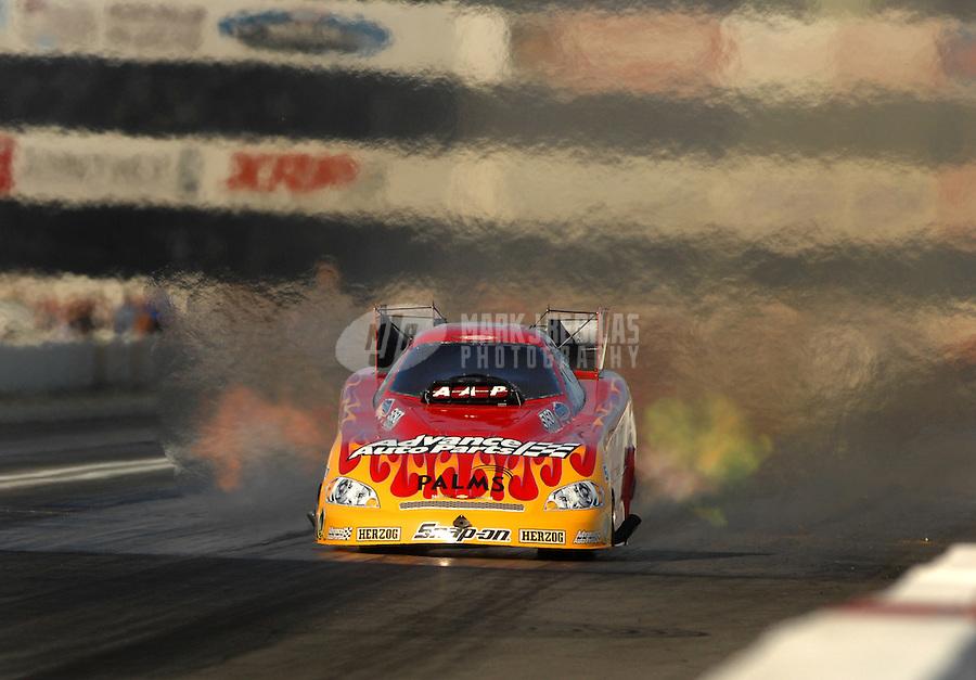 Nov 3, 2007; Pomona, CA, USA; NHRA funny car driver Cruz Pedregon during qualifying for the Auto Club Finals at Auto Club Raceway at Pomona. Mandatory Credit: Mark J. Rebilas-US PRESSWIRE
