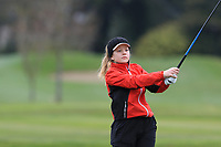 Josefine Gustafsson Winkle (SWE) on the 15th tee during Round 1 of the Irish Girls U18 Open Stroke Play Championship at Roganstown Golf &amp; Country Club, Dublin, Ireland. 05/04/19 <br /> Picture:  Thos Caffrey / www.golffile.ie