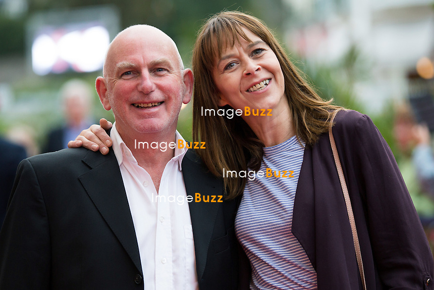 Gary Lewis &amp; Kate Dickie lors de la soir&eacute;e d'ouverture du 27&egrave;me Festival du film britannique de Dinard. <br /> France, Dinard, 29 septembre 2016.<br /> Opening night of 27th Edition of the Dinard British Film Festival.<br /> France, Dinard, 29 September 2016.