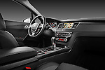 Passenger side dashboard view of 2012 Peugeot 508 SW Allure Wagon Stock Photo