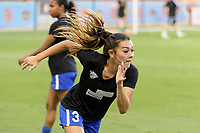 Houston, TX - Wednesday June 28, 2017: Brooke Elby warming up during a regular season National Women's Soccer League (NWSL) match between the Houston Dash and the Boston Breakers at BBVA Compass Stadium.