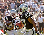 Oakland Raiders running back Ronney Jenkins (27) on Sunday, September 14, 2003, in Oakland, California. The Raiders defeated the Bengals 23-20.