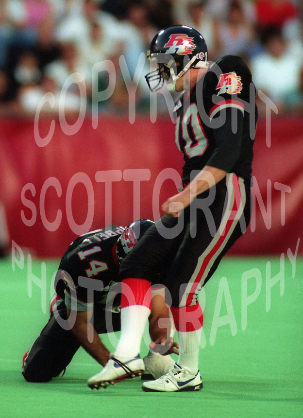 Terry Baker Ottawa Rough Riders 1993. Photo F. Scott Grant