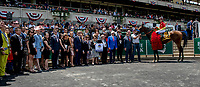 ELMONT, NY - JUNE 09: The connections of #6, Abel Tasman celebrate her victory in the Ogden Phipps on Belmont Stakes Day at Belmont Park on June 9, 2018 in Elmont, New York. (Photo by Eric Patterson/Eclipse Sportswire/Getty Images)