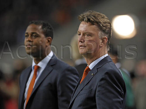 14.11.2012. Amsterdam, Holland,  Trainer Louis VAN GAAL and Co-Trainer Patrick KLUIVERT (NED) Holland versus Germany
