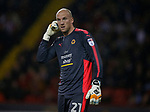 John Ruddy of Wolverhampton Wanderers during the Championship match at the Bramall Lane Stadium, Sheffield. Picture date 27th September 2017. Picture credit should read: Simon Bellis/Sportimage