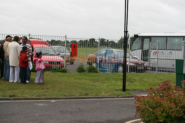 Buses arrive and are not boarded on Day three of the Protest at Mosney County meath against the removal of 111 Asylum Seekers to Dublin..Photo NEWSFILE/Jenny Matthews.(Photo credit should read Jenny Matthews/NEWSFILE)....This Picture has been sent you under the condtions enclosed by:.Newsfile Ltd..The Studio,.Millmount Abbey,.Drogheda,.Co Meath..Ireland..Tel: +353(0)41-9871240.Fax: +353(0)41-9871260.GSM: +353(0)86-2500958.email: pictures@newsfile.ie.www.newsfile.ie.FTP: 193.120.102.198.