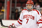 Charlie McAvoy (BU - 7) - The visiting Merrimack College Warriors defeated the Boston University Terriers 4-1 to complete a regular season sweep on Friday, January 27, 2017, at Agganis Arena in Boston, Massachusetts.The visiting Merrimack College Warriors defeated the Boston University Terriers 4-1 to complete a regular season sweep on Friday, January 27, 2017, at Agganis Arena in Boston, Massachusetts.