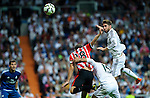 Real Madrid's spanish defender Sergio Ramos during the Spanish league football match Real Madrid vs Athletic Club Bilbao at the Santiago Bernabeu stadium in Madrid on October 5, 2014. Daniel Calleja/Photocall3000