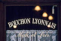 Europe/France/Rhône-Alpes/69/Rhône/Lyon: Détail bouchon lyonnais