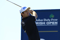 Ricardo Gouveia (POR) tees off the 3rd tee during Friday's Round 2 of the 2018 Dubai Duty Free Irish Open, held at Ballyliffin Golf Club, Ireland. 6th July 2018.<br /> Picture: Eoin Clarke | Golffile<br /> <br /> <br /> All photos usage must carry mandatory copyright credit (&copy; Golffile | Eoin Clarke)