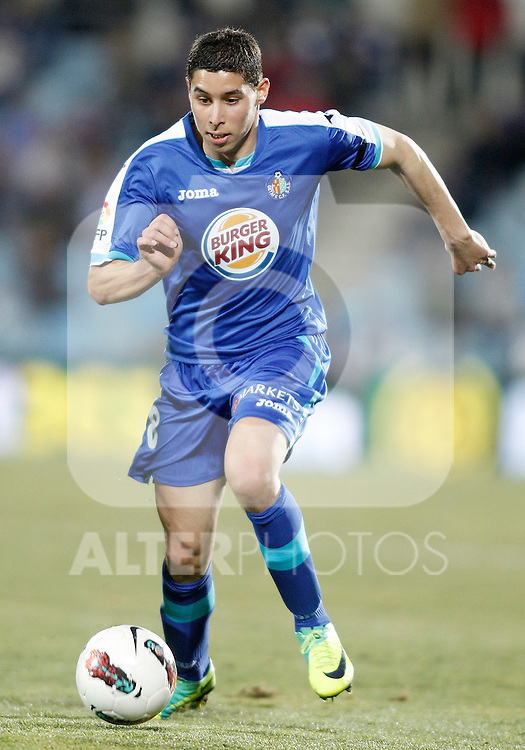 Getafe's Abdel Barrada during La Liga Match. February 18, 2012. (ALTERPHOTOS/Alvaro Hernandez)