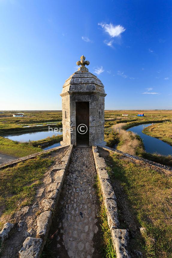 France, Charente-Maritime (17), Hiers-Brouage, citadelle de Brouage, guérite sur les remparts // France, Charente Maritime, Hiers Brouage, Citadel of Brouage, walls and turrets