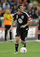 WASHINGTON, DC - OCTOBER 20, 2012:  Hamdi Salihi (9) of D.C United against the Columbus Crew during an MLS match at RFK Stadium in Washington D.C. on October 20. D.C United won 3-2.