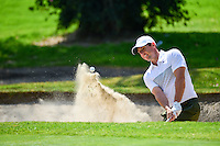 Rory McIlroy (NIR) hits from the trap on 1 during round 1 of the World Golf Championships, Mexico, Club De Golf Chapultepec, Mexico City, Mexico. 3/2/2017.<br />