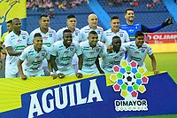 BARRANQUILLA - COLOMBIA ,24-08-2019: Formación del Once Caldas ante el Atlético Junior  durante partido por la fecha 8 de la Liga Águila II 2019 jugado en el estadio Metropolitano Roberto Meléndez de la ciudad de Barranquilla . / Team  of Once Caldas agaisnt of Atletico Junior during the  match for the date 8 of the Liga Aguila II 2019 played at Metropolitano Roberto Melendez Satdium in Barranquilla City . Photo: VizzorImage / Alfonso Cervantes / Contribuidor.