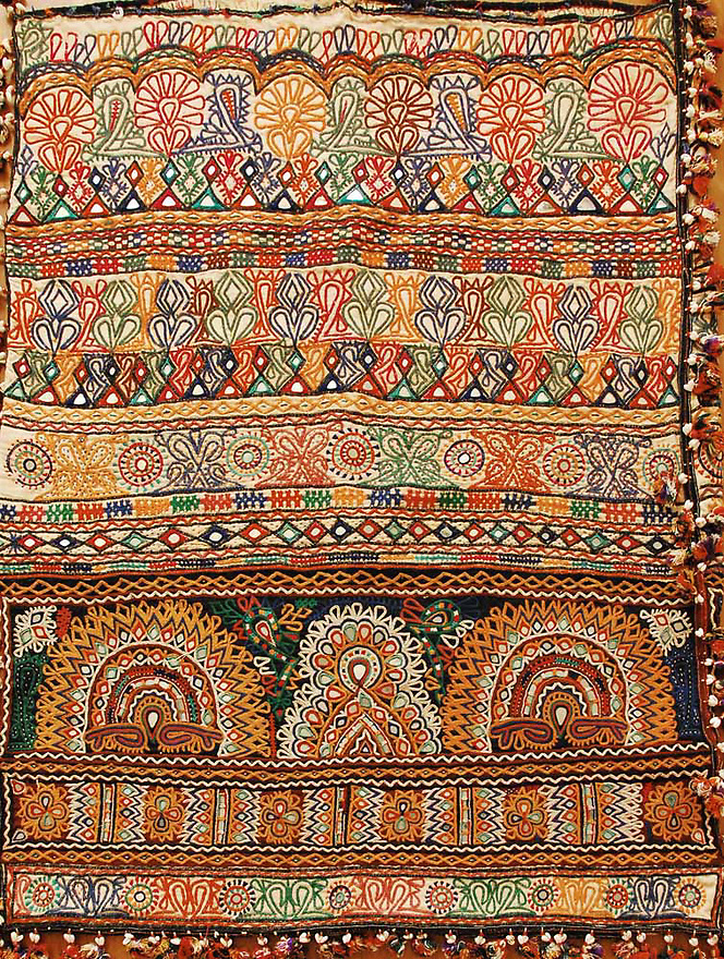 ANTIQUE DOWRY BAG WITH EMBROIDERY & MIRRORWORK, KUTCH GYPSY TRIBE, INDIA