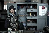 Worker from the 'Diesel' workshop in Pen?arol (Montevideo, Uruguay).