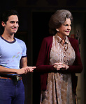 "Michael Hsu Rosen and Mercedes Ruehl during the Broadway Opening Night Curtain Call for ""Torch Song"" at the Hayes Theater on November 1, 2018 in New York City."