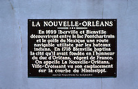 New Orleans:  Commemorative Plaque in French.