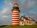 Lubec, Maine: West Quoddy Head Light with clearing storm clouds