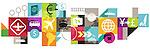 Illustrative image of collage representing travel