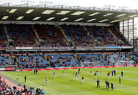 Burnley players take to the pitch at Turf Moor during the pre-match warm-up <br /> <br /> Photographer Rich Linley/CameraSport<br /> <br /> The Premier League - Burnley v Manchester City - Sunday 28th April 2019 - Turf Moor - Burnley<br /> <br /> World Copyright © 2019 CameraSport. All rights reserved. 43 Linden Ave. Countesthorpe. Leicester. England. LE8 5PG - Tel: +44 (0) 116 277 4147 - admin@camerasport.com - www.camerasport.com