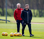20.04.2018 Rangers training: Graeme Murty and Jimmy Nicholl