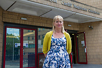 Pictured: Sarah Lewis, former constituency office manager who is taking Chris Davies MP to employment tribunal, outside Cardiff Magistrates Court.<br /> Re: A judge has ruled that Conservative MP Chris Davies did not deliberately mislead an employment tribunal when he said that he would not face criminal charges over expenses claims.<br /> But the Brecon and Radnorshire MP later pleaded guilty to claiming £700 with false invoices for office photographs.<br /> He is being sued for constructive dismissal by his former constituency office manager, Sarah Lewis.<br /> The judge in Cardiff said the case will go to a full hearing at a later date.