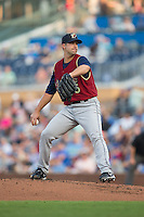 Scranton/Wilkes-Barre RailRiders starting pitcher Kyle Davies (36) in action against the Durham Bulls at Durham Bulls Athletic Park on May 15, 2015 in Durham, North Carolina.  The RailRiders defeated the Bulls 8-4 in 11 innings.  (Brian Westerholt/Four Seam Images)