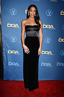 HOLLYWOOD, CA - FEBRUARY 02: Laura Harrier attends the 71st Annual Directors Guild Of America Awards at The Ray Dolby Ballroom at Hollywood & Highland Center on February 02, 2019 in Hollywood, California.<br /> CAP/ROT/TM<br /> ©TM/ROT/Capital Pictures