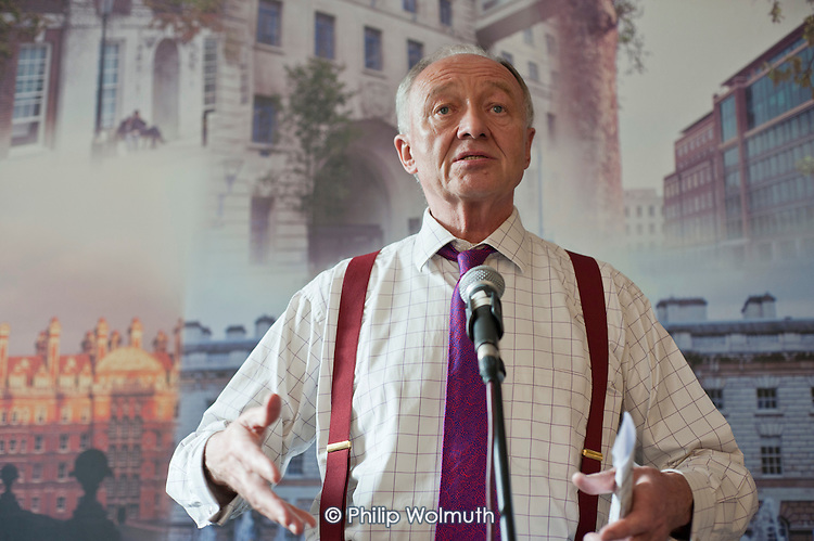 London Mayoral candidate Ken Livingstone addresses an election hustings at the University of London Union.