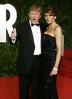 Donald Trump and wife Melania arrive at the 2011 Vanity Fair Academy Awards Oscars® Party at Sunset Tower Hotel in West Hollywood.